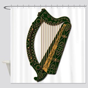 Harp-Ireland Coat Of Arms-2-Shower Shower Curtain