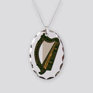 Harp-Ireland Coat Of Arms-2-Ne Necklace Oval Charm