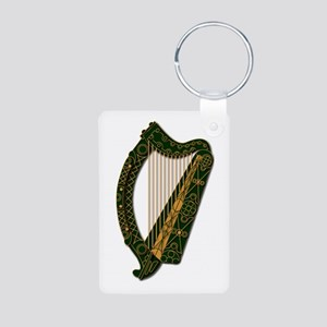 Harp-Ireland Coat Of Arms2 Aluminum Photo Keychain