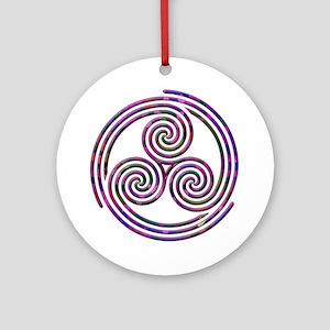 Triple Spiral - 11 Ornament (Round)