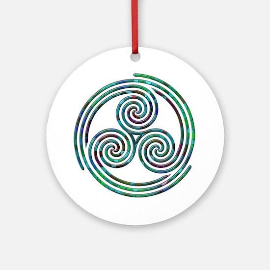 Triple Spiral - 7 Ornament (Round)