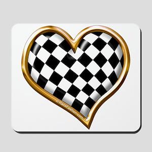 Racing Heart Gold Mousepad