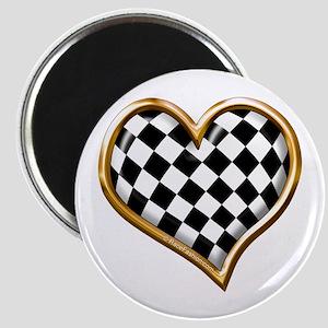 Racing Heart Gold Magnet