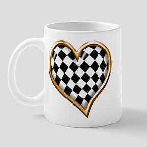 Racing Heart Gold Mug