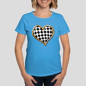 Racing Heart Gold Women's Dark T-Shirt