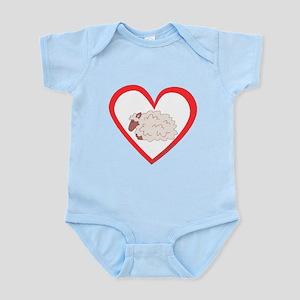 Sheep Heart Infant Bodysuit