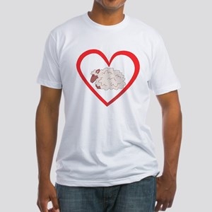 Sheep Heart Fitted T-Shirt