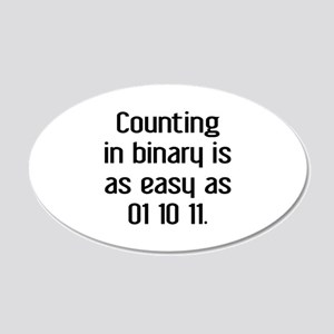 Counting In Binary 22x14 Oval Wall Peel