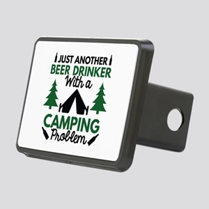 Beer Drinker Camping Rectangular Hitch Cover