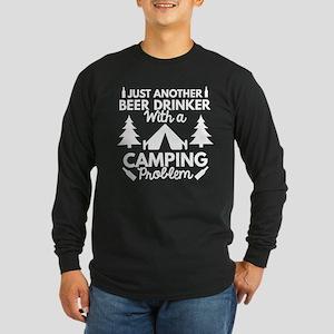Beer Drinker Camping Long Sleeve Dark T-Shirt