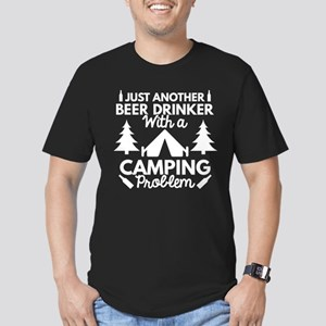 Beer Drinker Camping Men's Fitted T-Shirt (dark)