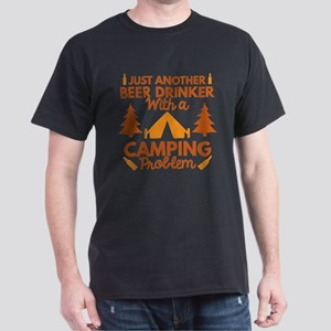 Beer Drinker Camping Dark T-Shirt