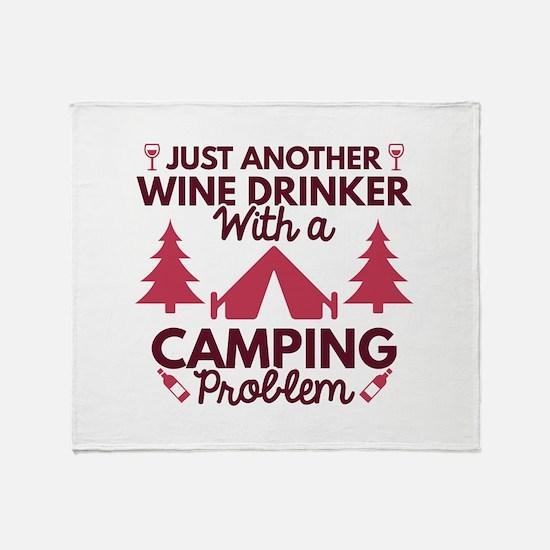 Wine Drinker Camping Stadium Blanket