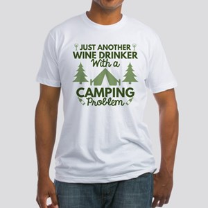 Wine Drinker Camping Fitted T-Shirt
