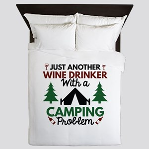 Wine Drinker Camping Queen Duvet