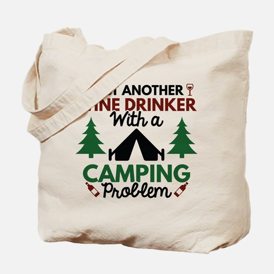 Wine Drinker Camping Tote Bag