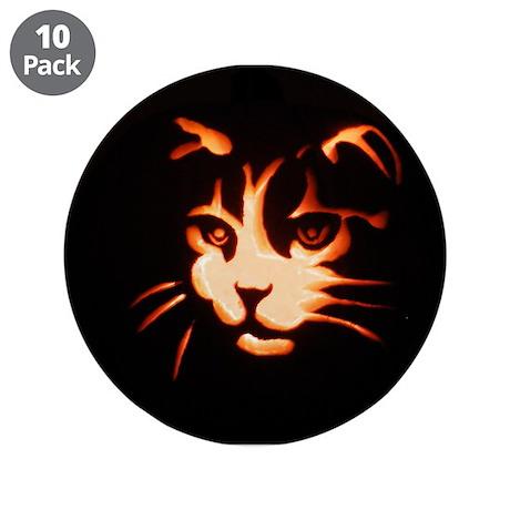 """Halloween Cat 3.5"""" Button (10 pack)"""