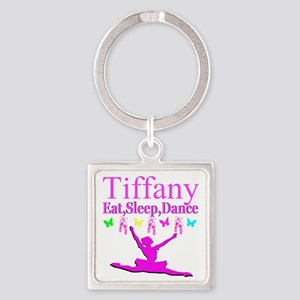 PERSONALIZED DANCE Square Keychain