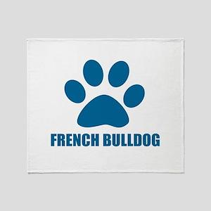 French bulldog Dog Designs Throw Blanket