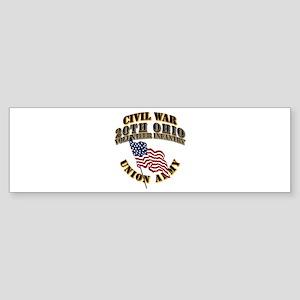 20th Ohio Volunteer Infantry Sticker (Bumper)