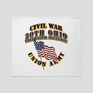 20th Ohio Volunteer Infantry Throw Blanket