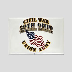 20th Ohio Volunteer Infantry Rectangle Magnet