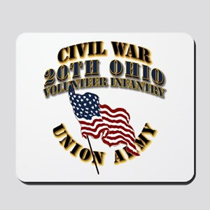 20th Ohio Volunteer Infantry Mousepad
