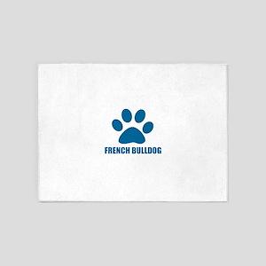 French bulldog Dog Designs 5'x7'Area Rug