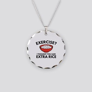 Exercise ? Extra Rice Necklace Circle Charm