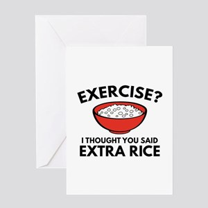 Exercise ? Extra Rice Greeting Card