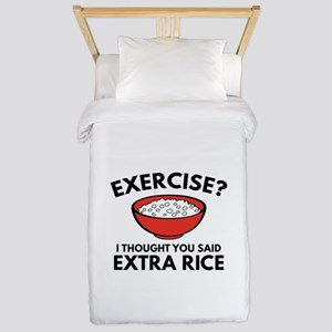 Exercise ? Extra Rice Twin Duvet