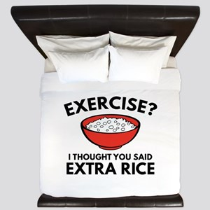 Exercise ? Extra Rice King Duvet