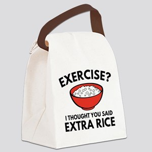 Exercise ? Extra Rice Canvas Lunch Bag