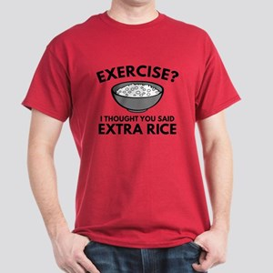 Exercise ? Extra Rice Dark T-Shirt