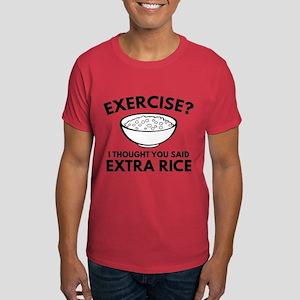 Exercise ? Extra Rice Dark T-Shirt