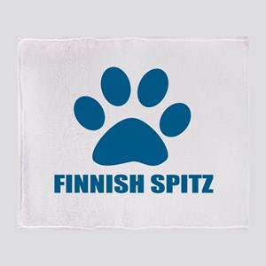 Finnish Spitz Dog Designs Throw Blanket