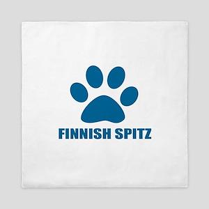 Finnish Spitz Dog Designs Queen Duvet