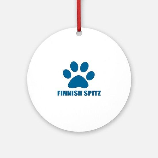 Finnish Spitz Dog Designs Round Ornament