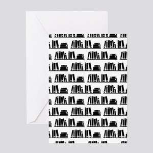 Book Lover Librarian Pattern Greeting Cards