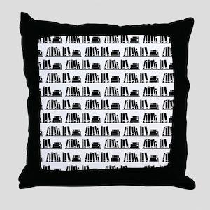 Book Lover Librarian Pattern Throw Pillow