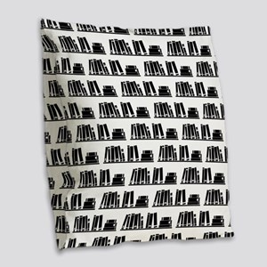 Book Lover Librarian Pattern Burlap Throw Pillow