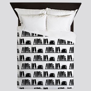 Book Lover Librarian Pattern Queen Duvet