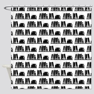 Book Lover Librarian Pattern Shower Curtain