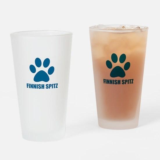 Finnish Spitz Dog Designs Drinking Glass