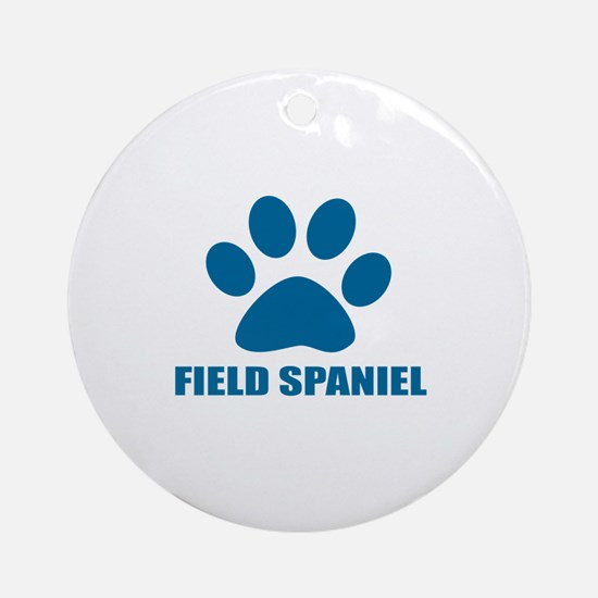 Field Spaniel Dog Designs Round Ornament