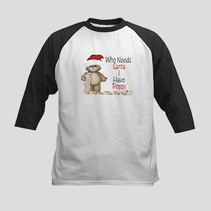 Who Needs Santa? Poppy Kids Baseball Jersey
