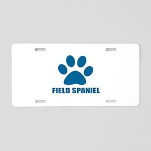 Field Spaniel Dog Designs Aluminum License Plate