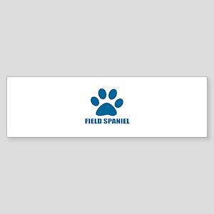 Field Spaniel Dog Designs Sticker (Bumper)