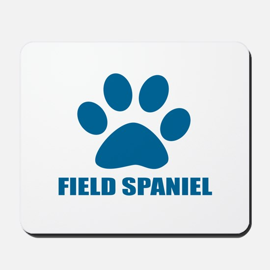 Field Spaniel Dog Designs Mousepad
