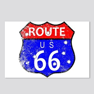 Route 66 Bullet Holes Postcards (Package of 8)